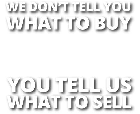 We Don't Tell You What To Buy